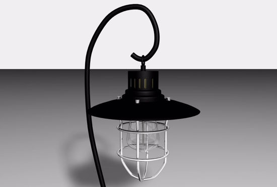 Picture of Industrial Lantern Lamp Model Poser Format