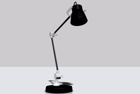 Picture of Industrial Style Desk Lamp Model FBX Format
