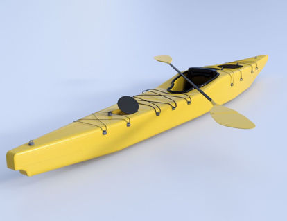 Picture of Kayak Boat Model Poser Format
