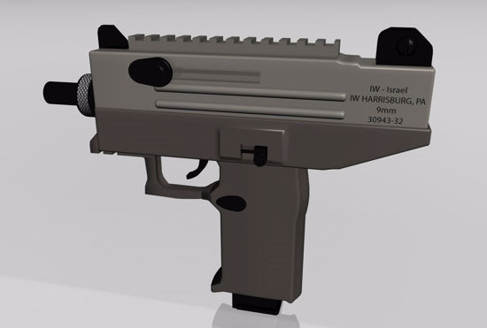 Picture of Uzi Machine Gun Model FBX Format