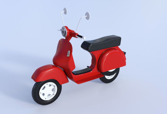 Picture of Vespa Style Motor Scooter Model Poser Format