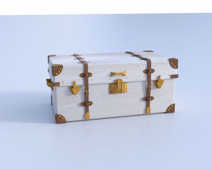 Picture of Victorian Travel Trunk Model Poser Format