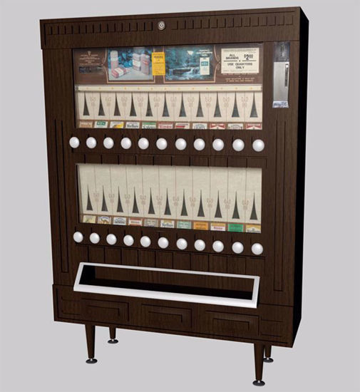 Picture of Vintage Cigarette Vending Machine Model Poser Format