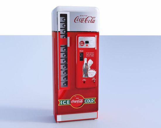 Picture of Vintage Cola Vending Machine Model FBX Format
