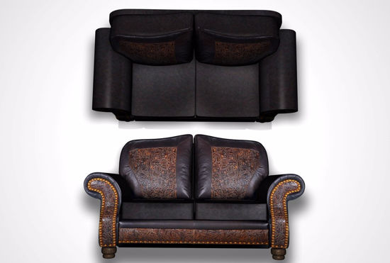 Picture of Leather Sofa Furniture Model FBX Format