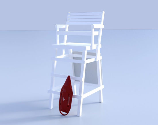 Picture of Lifeguard Beach Chair Model Poser Format