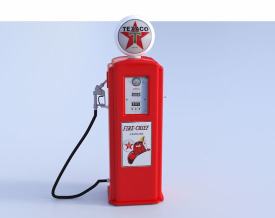 Picture of Vintage Gas Pump Model Poser Format