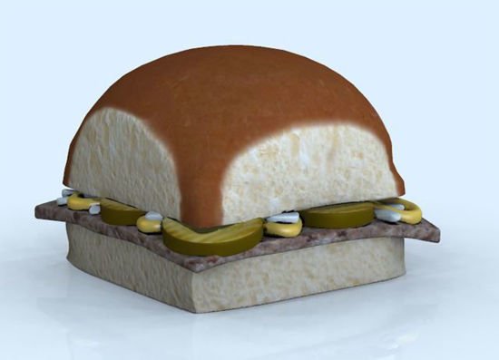 Picture of Little Slider Hamburger Model Poser Format