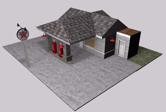 Picture of Vintage Gas Station Environment FBX Format