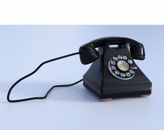 Picture of Vintage Telephone Model FBX Format