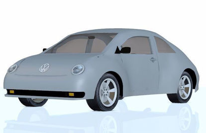 Picture of Volkswagen Beetle Car Model Poser Format
