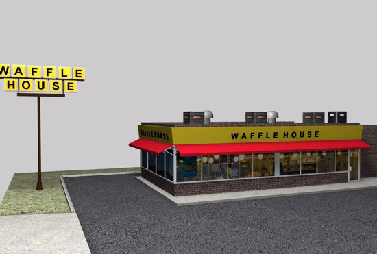 Picture of Waffle Restaurant Environment FBX Format