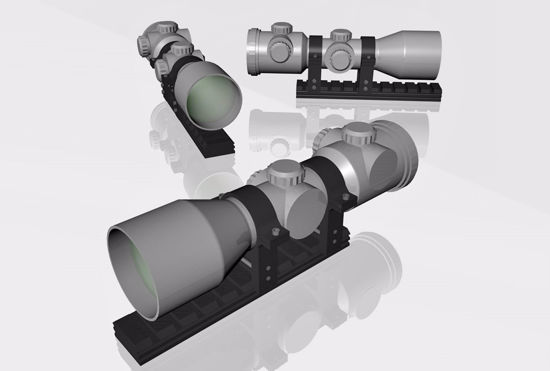 Picture of Weapon Scope Model FBX Format