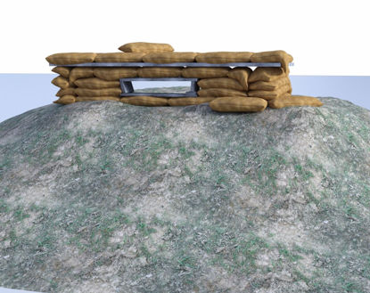 Picture of Military Sandbag Bunker Scene Poser Format