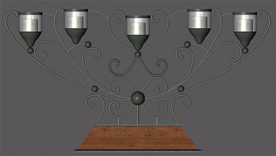 Picture of Modern Candelabra Model Poser Format
