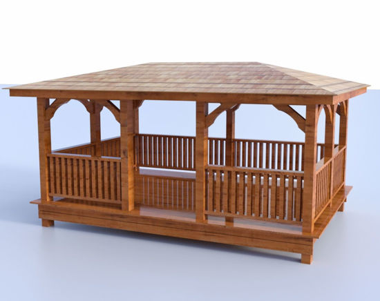 Picture of Wooden Gazebo Model Poser Format