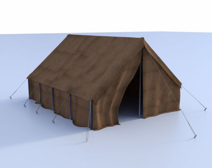Picture of World War II Military Tent Poser Format