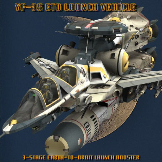 Picture of YF-35 Warthog ETO Booster Set - add-on for Poser YF-35 Warthog