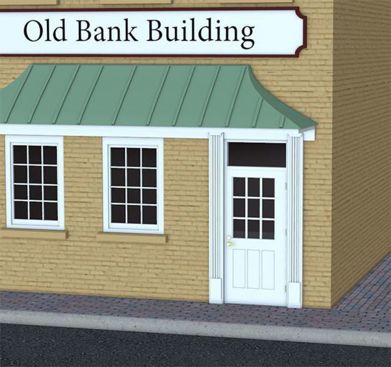 Picture of Old Bank Building Model Poser Format