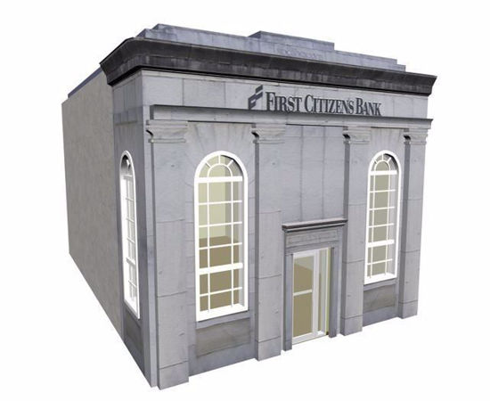 Picture of Old National Bank Building Model FBX Format