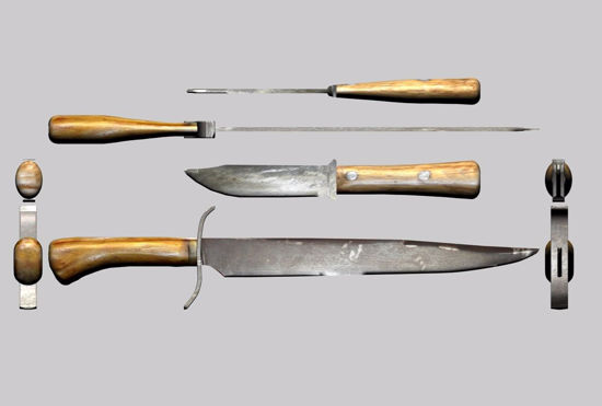 Picture of Old West Knives Weapon Models FBX Format
