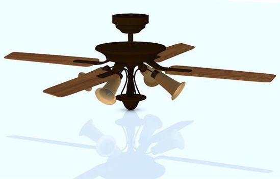Picture of Ornate Ceiling Fan Model Poser Format