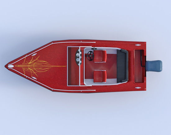 Picture of Outboard Motor Boat Model Poser Format