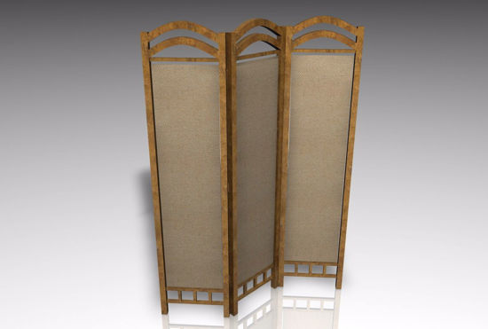Picture of Room Divider Furniture Model FBX Format