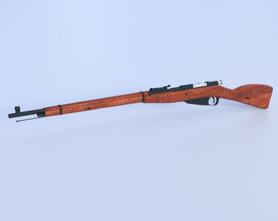 Picture of Russian M1891 Rifle Model Poser Format