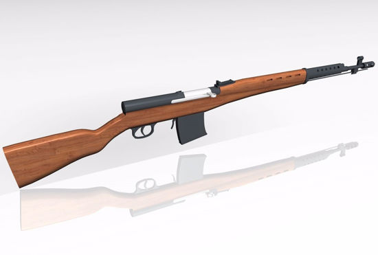Picture of Russian SVT 40 Rifle Model FBX Format
