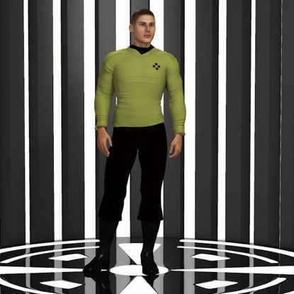 Picture of Space Fleet Officer Outfit for Hivewire3D Dusk