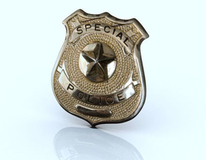 Picture of Special Police Badge Model Poser Format