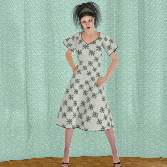 Picture of Summer Dynamic Dress Set for DAZ Victoria 4