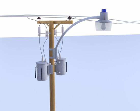Picture of Streetlight and Utility Pole Models Poser Format