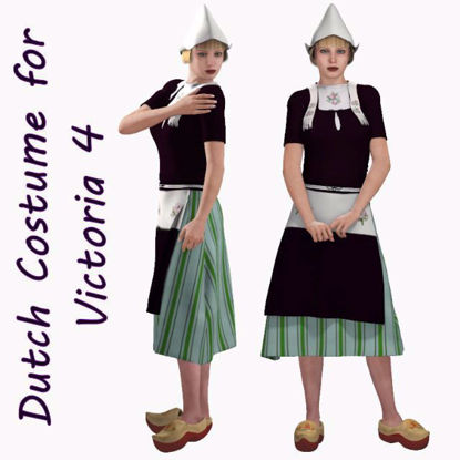 Picture of Traditional Dutch Costume for DAZ Victoria 4