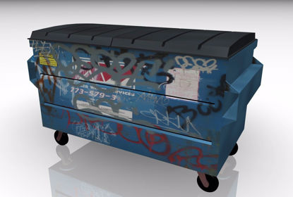 Picture of Trash Dumpster Model FBX Format