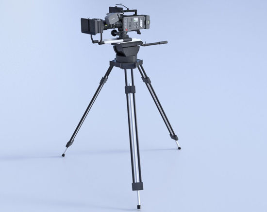Picture of Tripod Mounted Movie Camera Model Poser Format