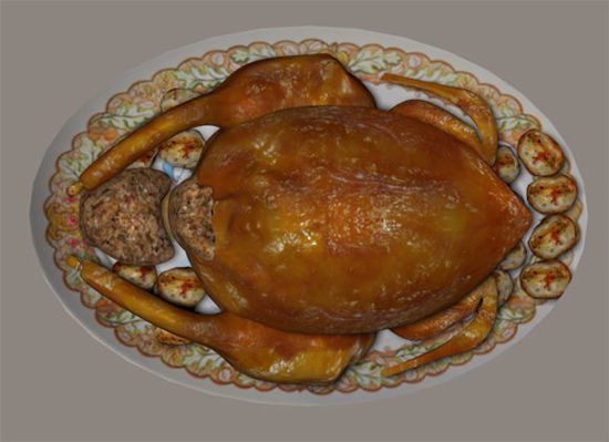 Picture of Turkey and Trimmings Model Poser Format