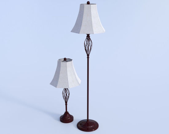 Picture of Twisted Metal Lamp Model Set Poser Format