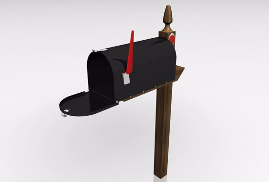 Picture of U.S. Residential Mailbox Model FBX Format