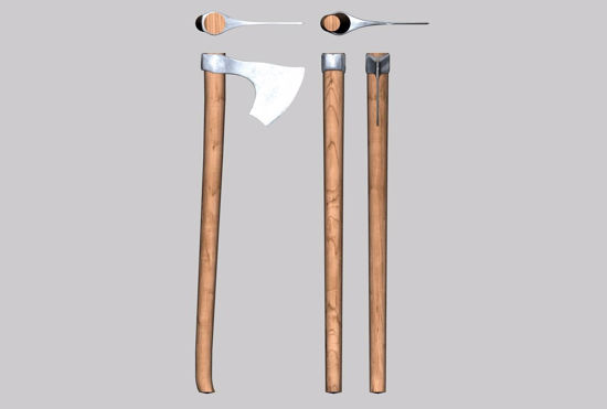Picture of Viking Bearded Axe Model FBX Format