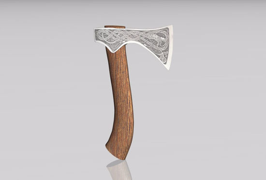 Picture of Viking Hand Axe Model FBX Format