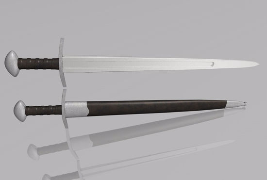 Picture of Viking Ulfberht Sword Weapon Model FBX Format