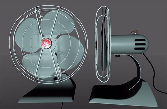 Picture of Vintage Electric Fan Model Poser Format