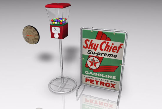 Picture of Vintage Gas Station Models FBX Format