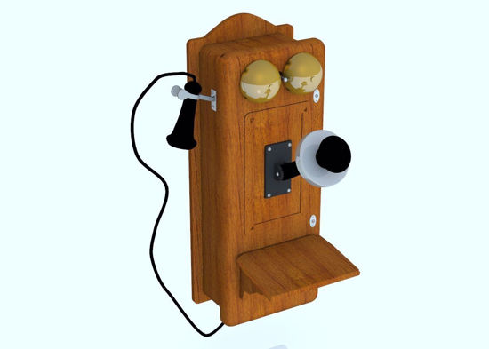 Picture of Vintage Wall Telephone Model FBX Format