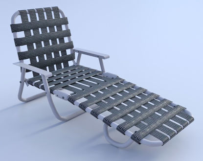 Picture of Vintage Webbed Lounge Chair Model Poser Format