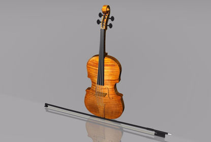 Picture of Violin Musical Instrument Model FBX Format