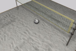 Volley Ball Court Environment FBX Format
