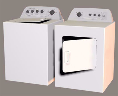 Picture of Washer and Dryer Models Poser Format